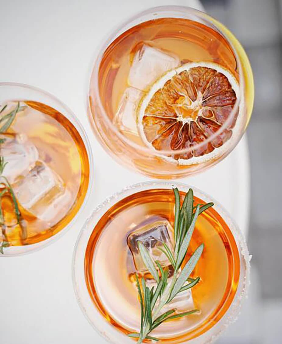 Twelve Thirty Club | cocktails with ice and rosemary