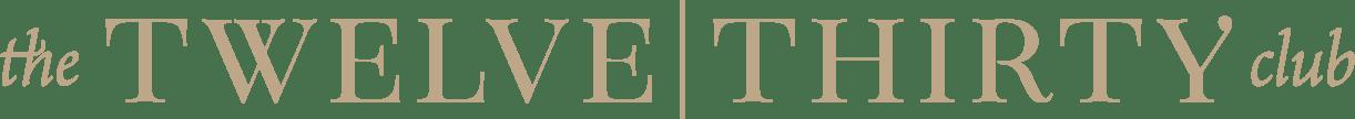 The Twelve Thirty Club | Logo